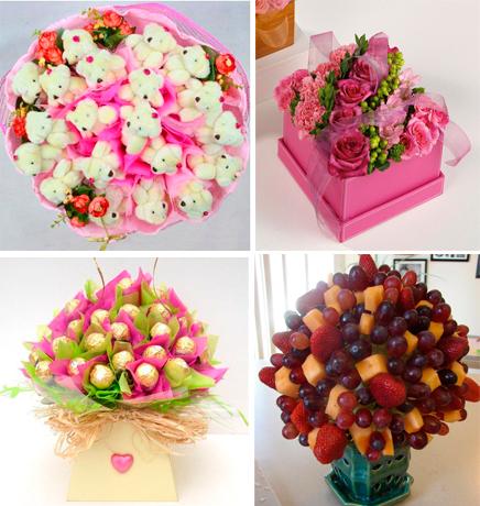 Букет цветной, подарки вместо цветов на день рождения
